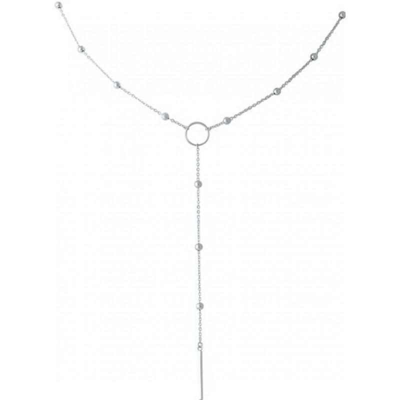Серебряное колье SilverBreeze без камней (1967065) 450480 размер