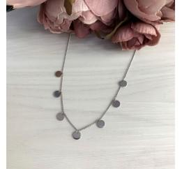Серебряное колье SilverBreeze без камней (1967027) 450500 размер