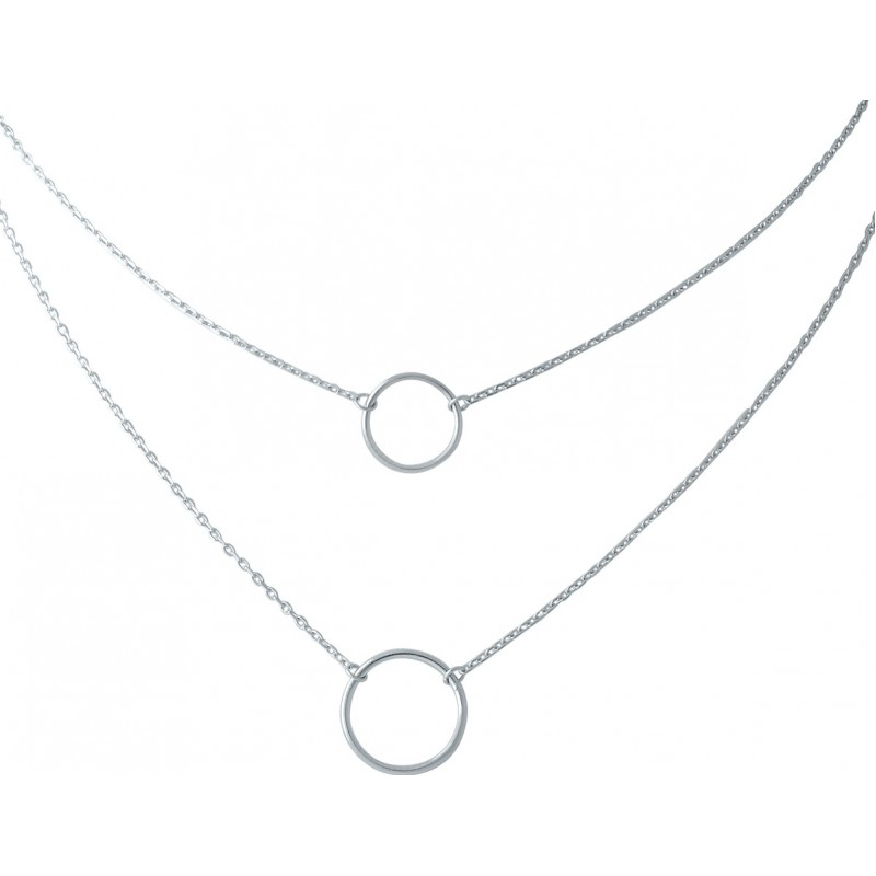 Серебряное колье SilverBreeze без камней (1967010) 450500 размер