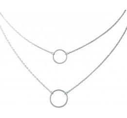 Серебряное колье SilverBreeze без камней (1967010) 450480 размер