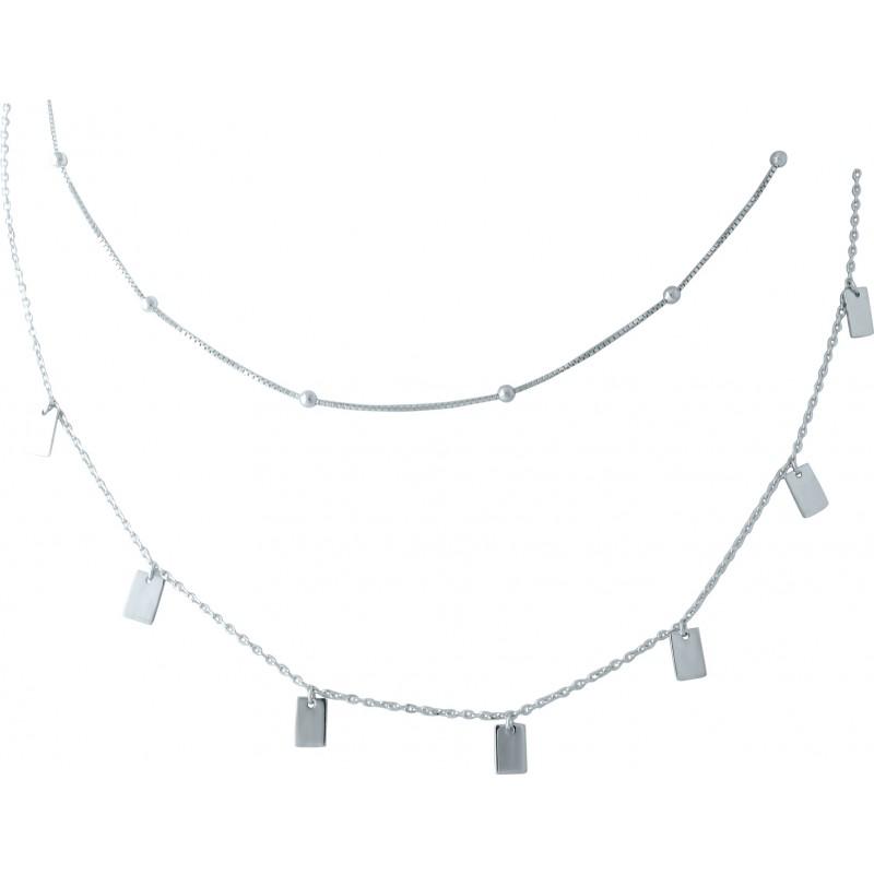 Серебряное колье SilverBreeze без камней (1953105) 4204500 размер