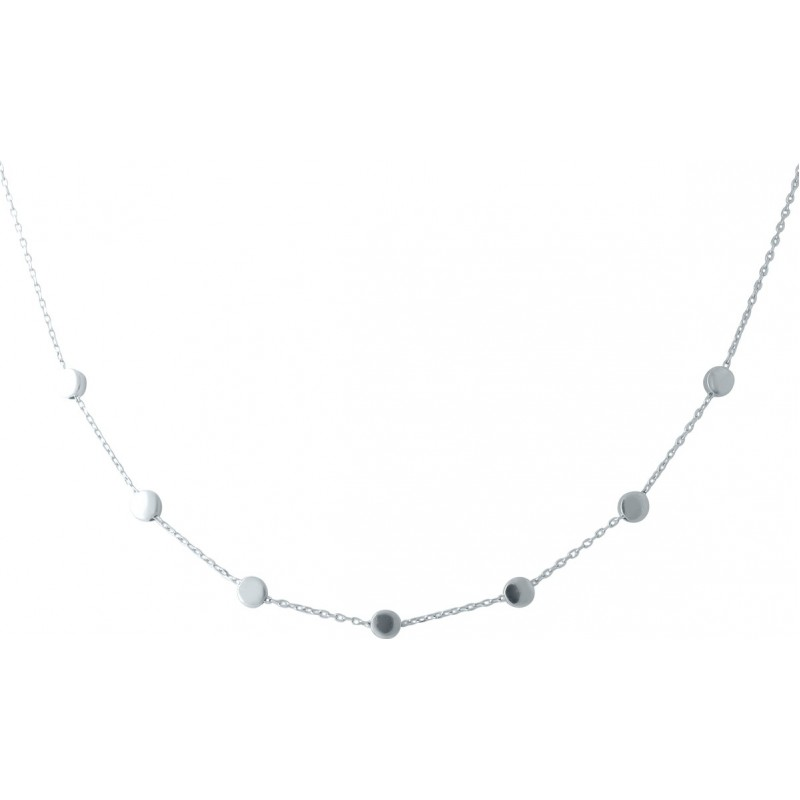 Серебряное колье SilverBreeze без камней (1952863) 450500 размер