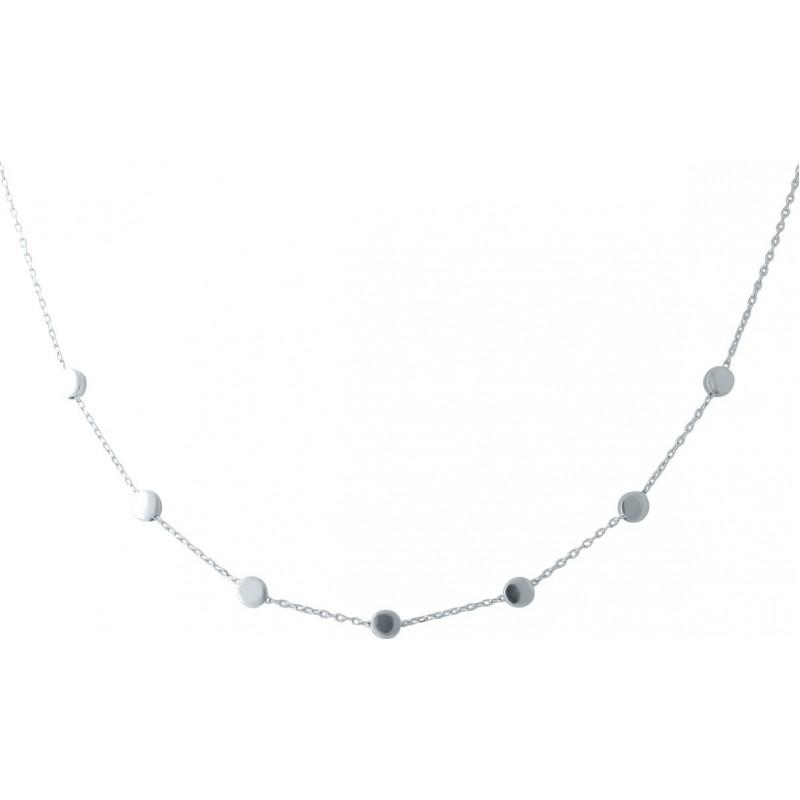Серебряное колье SilverBreeze без камней (1952863) 400430 размер
