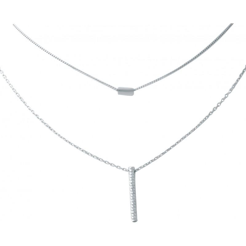 Серебряное колье SilverBreeze без камней (1935996) 400430 размер