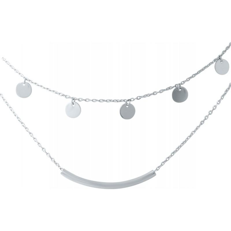 Серебряное колье SilverBreeze без камней (1935958) 400430 размер