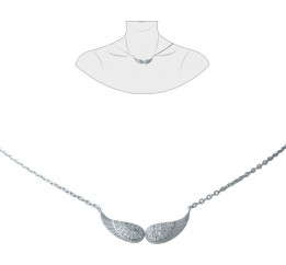 Серебряное колье SilverBreeze с фианитами (1931226) 4204500 размер