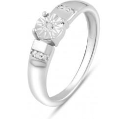 Серебряное кольцо SilverBreeze с натуральными бриллиантом 0.03ct (2075608) 18 размер