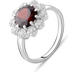 Серебряное кольцо SilverBreeze с натуральным гранатом 2.73ct (2075356) 18 размер