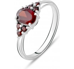 Серебряное кольцо SilverBreeze с натуральным гранатом 1.167ct (2075301) 17.5 размер