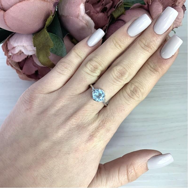 Серебряное кольцо SilverBreeze с натуральным топазом 2.958ct (2074960) 18.5 размер