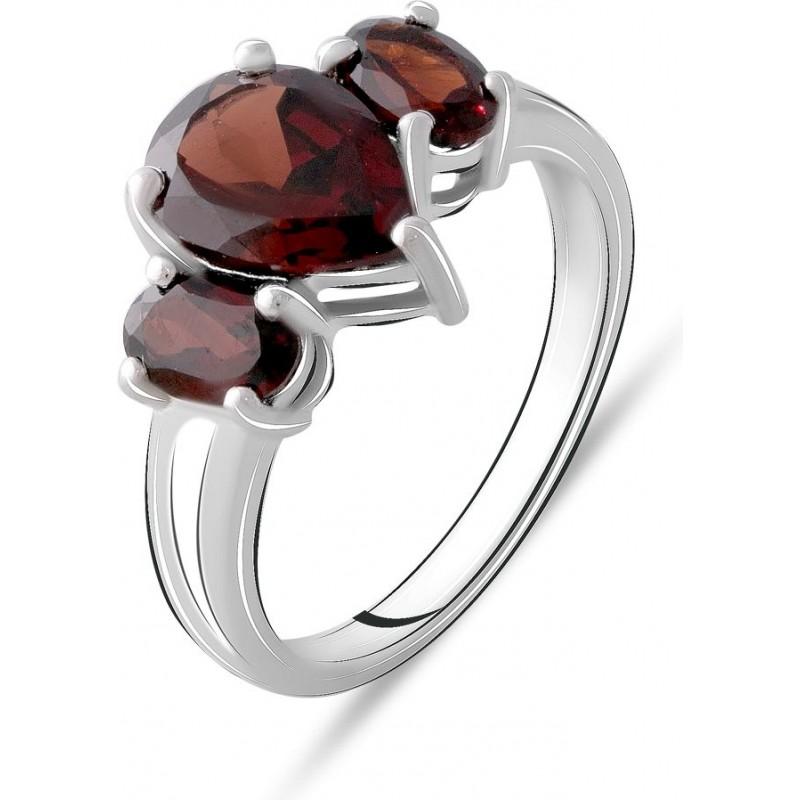 Серебряное кольцо SilverBreeze с натуральным гранатом 3.358ct (2074922) 17.5 размер