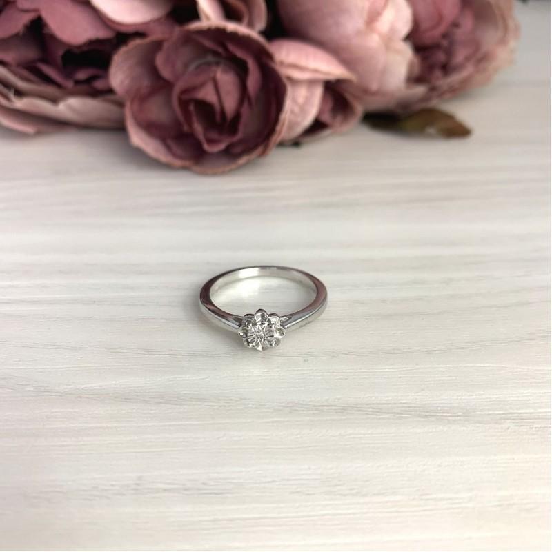 Серебряное кольцо SilverBreeze с натуральными бриллиантом 0.01ct (2074687) 18.5 размер