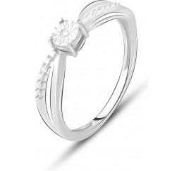 Серебряное кольцо SilverBreeze с натуральными бриллиантом 0.03ct (2074670) 18.5 размер