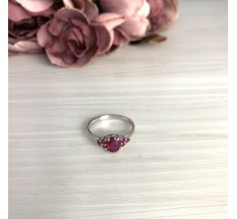 Серебряное кольцо SilverBreeze с натуральным рубином 1.327ct (2073604) 17.5 размер