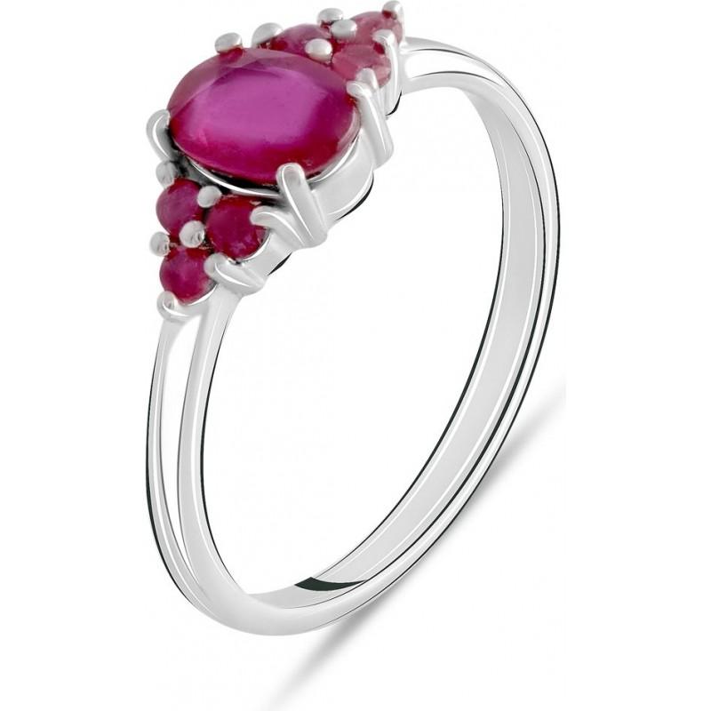 Серебряное кольцо SilverBreeze с натуральным рубином 1.327ct (2073604) 18.5 размер