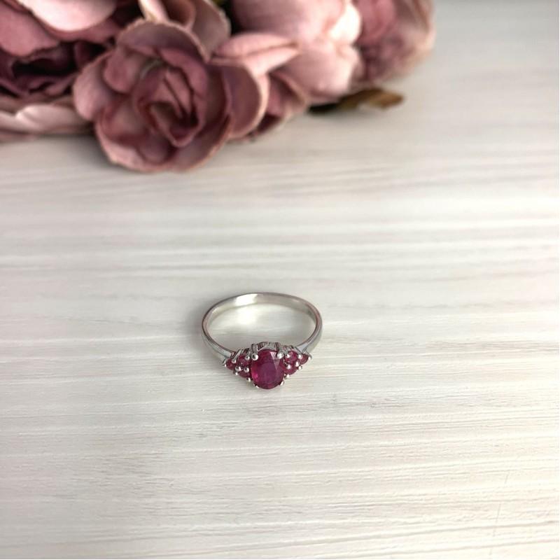 Серебряное кольцо SilverBreeze с натуральным рубином 1.327ct (2073604) 18 размер