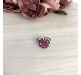 Серебряное кольцо SilverBreeze с натуральным рубином 3.5ct (2073581) 17.5 размер