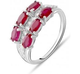 Серебряное кольцо SilverBreeze с натуральным рубином 2.481ct (2073574) 17 размер