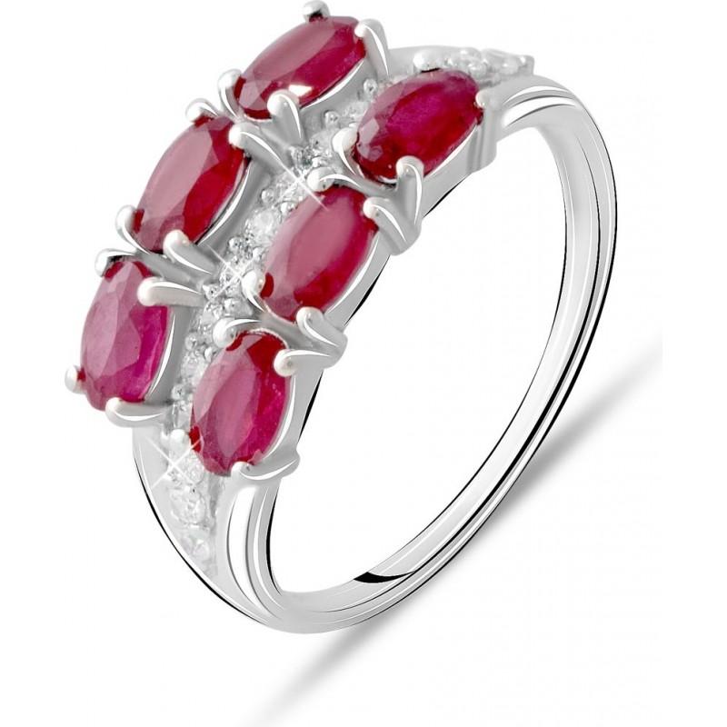 Серебряное кольцо SilverBreeze с натуральным рубином 2.481ct (2073574) 17.5 размер