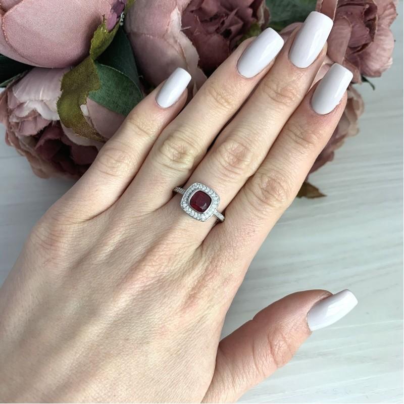 Серебряное кольцо SilverBreeze с натуральным рубином 1.757ct (2073536) 17.5 размер