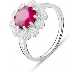 Серебряное кольцо SilverBreeze с натуральным рубином 2.83ct (2073475) 18 размер