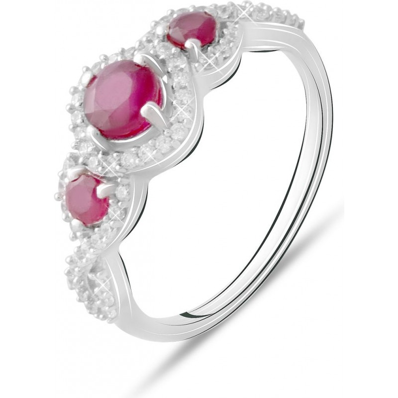 Серебряное кольцо SilverBreeze с натуральным рубином 1.644ct (2073444) 17 размер