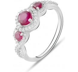 Серебряное кольцо SilverBreeze с натуральным рубином 1.644ct (2073444) 17.5 размер