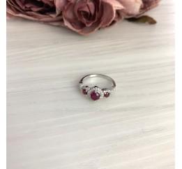 Серебряное кольцо SilverBreeze с натуральным рубином 1.644ct (2073444) 18 размер