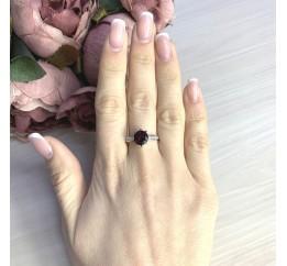 Серебряное кольцо SilverBreeze с натуральным гранатом 2.61ct (2073147) 17 размер