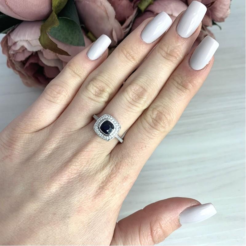 Серебряное кольцо SilverBreeze с натуральным сапфиром 1.64ct (2072898) 18.5 размер