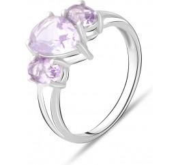 Серебряное кольцо SilverBreeze с натуральным аметистом 2.4ct (2072577) 17.5 размер