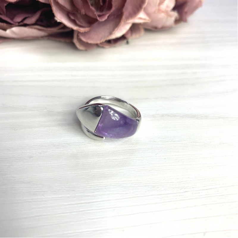 Серебряное кольцо SilverBreeze с натуральным аметистом 4.27ct (2072409) 17 размер