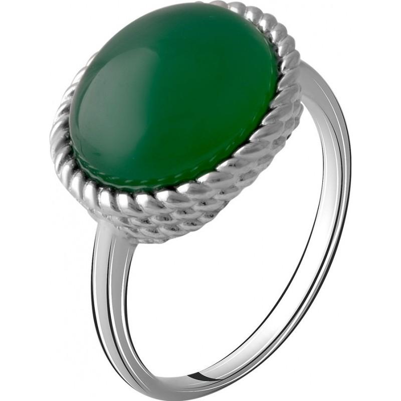 Серебряное кольцо SilverBreeze с натуральным агатом 4.163ct (2072287) 19 размер