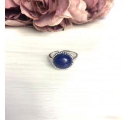 Серебряное кольцо SilverBreeze с натуральным лазуритом 4.163ct (2072225) 18.5 размер