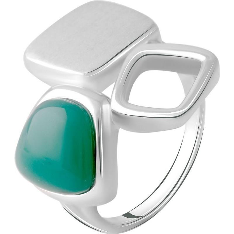 Серебряное кольцо SilverBreeze с натуральным агатом (2072201) 16 размер