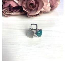 Серебряное кольцо SilverBreeze с натуральным агатом (2072201) 17 размер