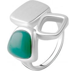 Серебряное кольцо SilverBreeze с натуральным агатом (2072201) 18 размер