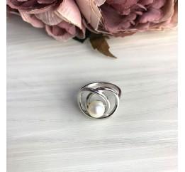 Серебряное кольцо SilverBreeze с натуральным жемчугом барочным (2071396) 18 размер