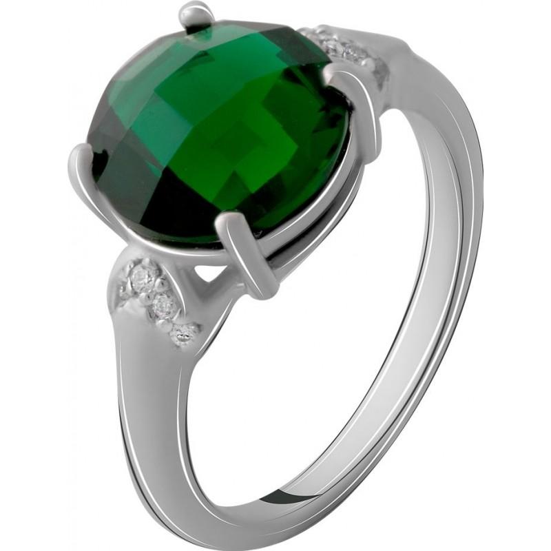Серебряное кольцо SilverBreeze с изумрудом nano 3.068ct (2071044) 17.5 размер
