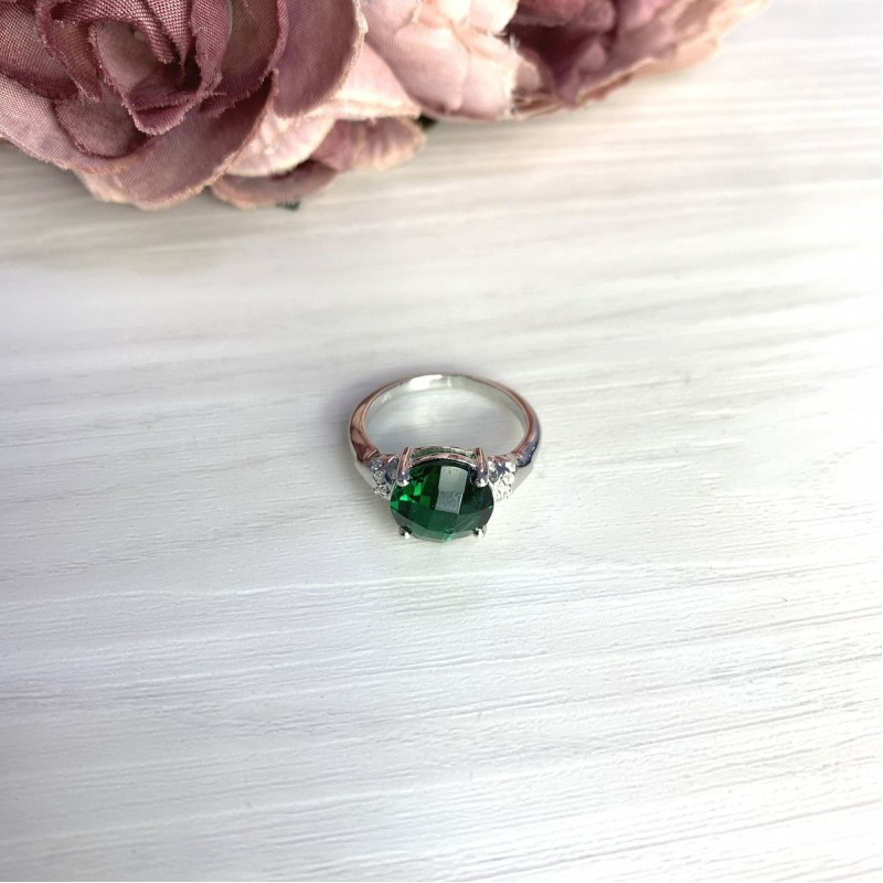 Серебряное кольцо SilverBreeze с изумрудом nano 3.068ct (2071044) 18.5 размер