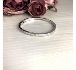 Серебряный браслет SilverBreeze с фианитами (2070924) 18 размер