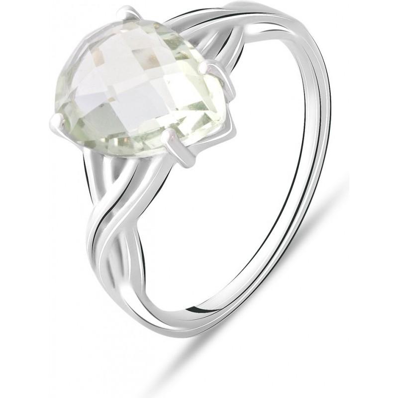 Серебряное кольцо SilverBreeze с натуральным зеленим аметистом 3.112ct (2070726) 18.5 размер