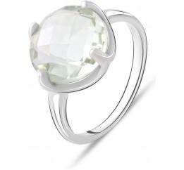 Серебряное кольцо SilverBreeze с натуральным зеленим аметистом 5.27ct (2070672) 18.5 размер