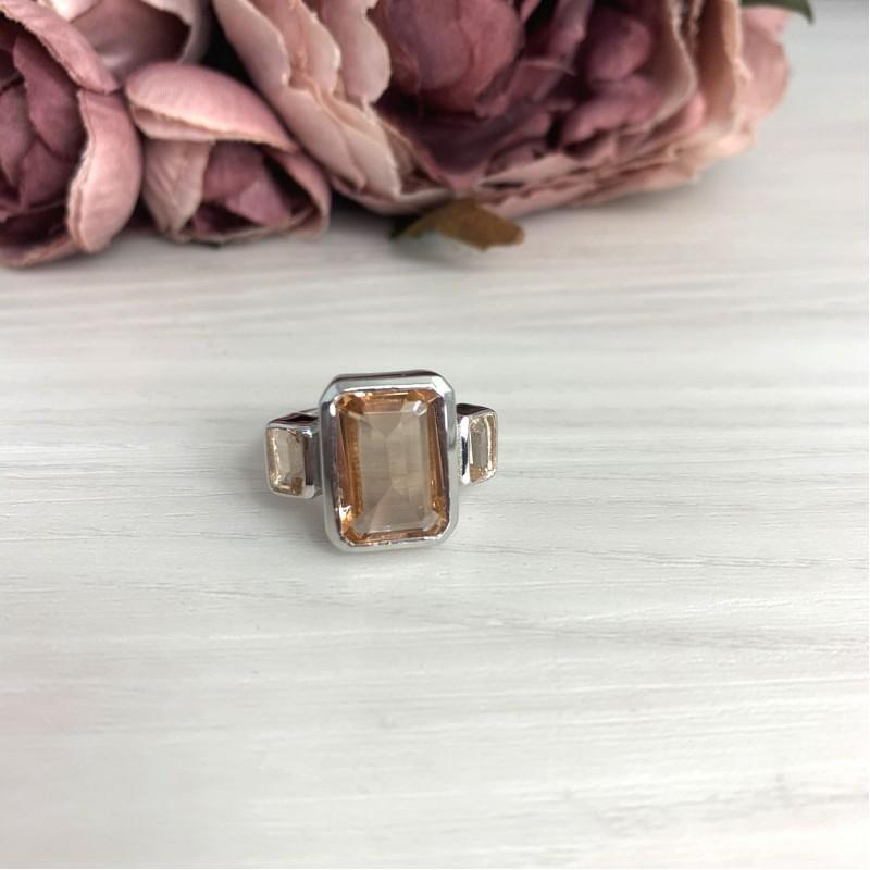 Серебряное кольцо SilverBreeze с морганитом nano 6.177ct (2070504) 17.5 размер