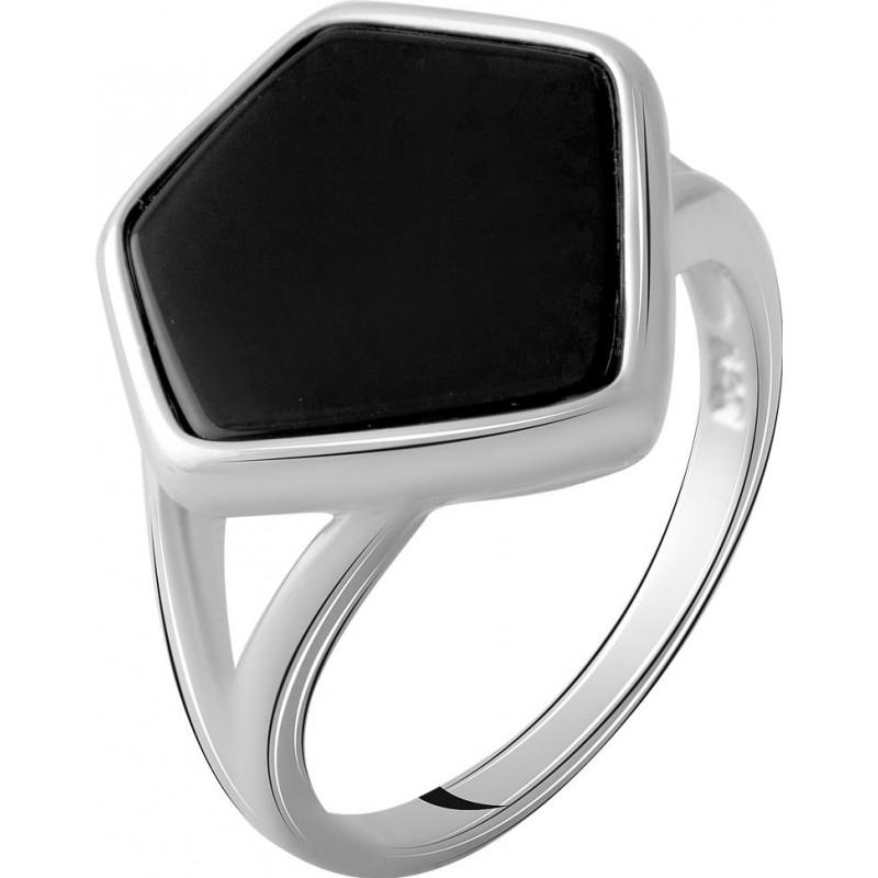 Серебряное кольцо SilverBreeze с натуральным ониксом 2.776ct (2070368) 18.5 размер