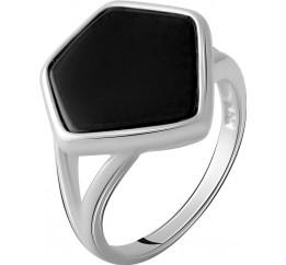 Серебряное кольцо SilverBreeze с натуральным ониксом 2.776ct (2070368) 18 размер