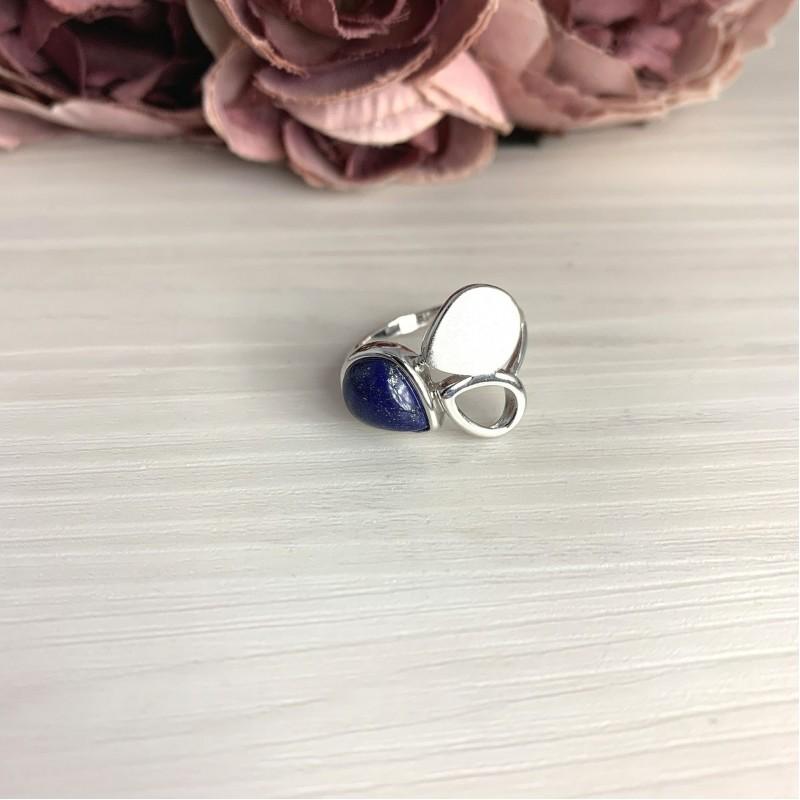 Серебряное кольцо SilverBreeze с натуральным лазуритом 1.833ct (2070252) 17 размер