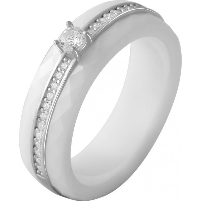Серебряное кольцо SilverBreeze с керамикой (2070061) 18.5 размер