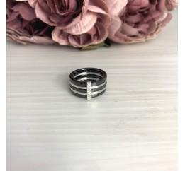 Серебряное кольцо SilverBreeze с керамикой (2070047) 17.5 размер