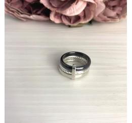 Серебряное кольцо SilverBreeze с керамикой (2070023) 17 размер